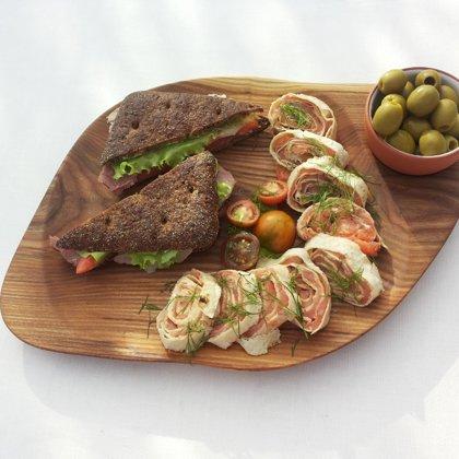 Elm serving plate