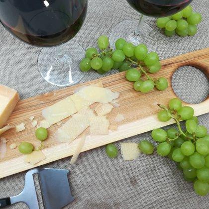 """Cheese & vine"" serving board"