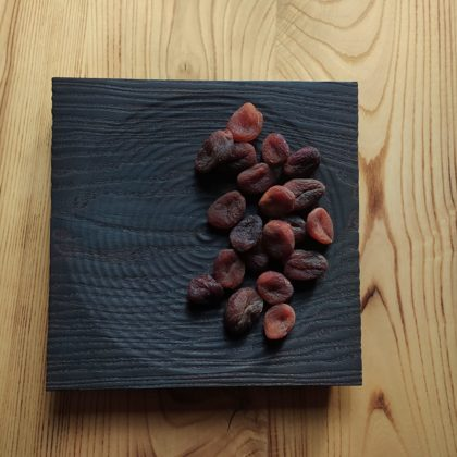 Charred ash serving tray